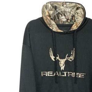 🔔 RealTree Pullover Tech Hoodie Black Camo XL